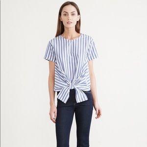 Amour Vert | Striped Cotton Blouse